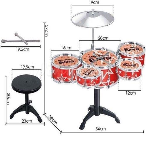 Bộ 5 trống Jazz Drum kèm ghế cho bé   WinMart